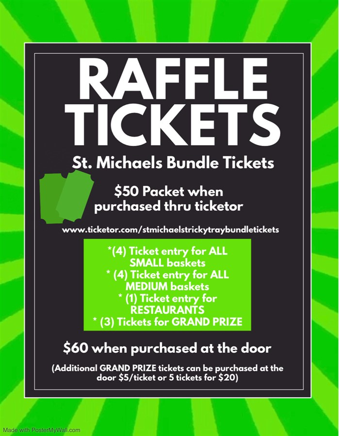 St Michaels Tricky Tray Bundle Tickets