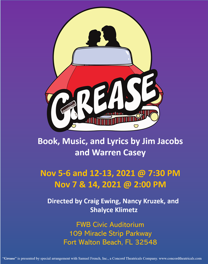 Get Information and buy tickets to Grease Nov 05, 06, 07, 12, 13, 14 2021 on Stage Crafters Community Theatre