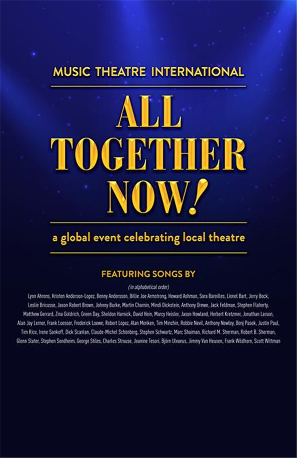 ALL TOGETHER NOW! Broadway Song review from Musical Theatre international on Nov 12, 19:00@Area Community Theatre - Buy tickets and Get information on tomahact.com