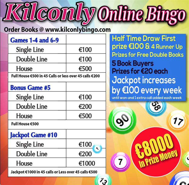 Kilconly Bingo Friday 7th May 2021