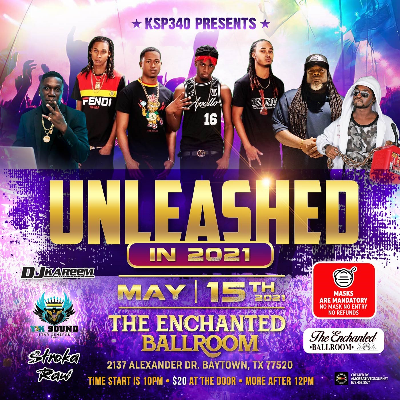 UNLEASHED 2021  on may. 15, 20:00@The enchanted Ballroom - Buy tickets and Get information on www.fetefinders.com tickets.fetefinders.com
