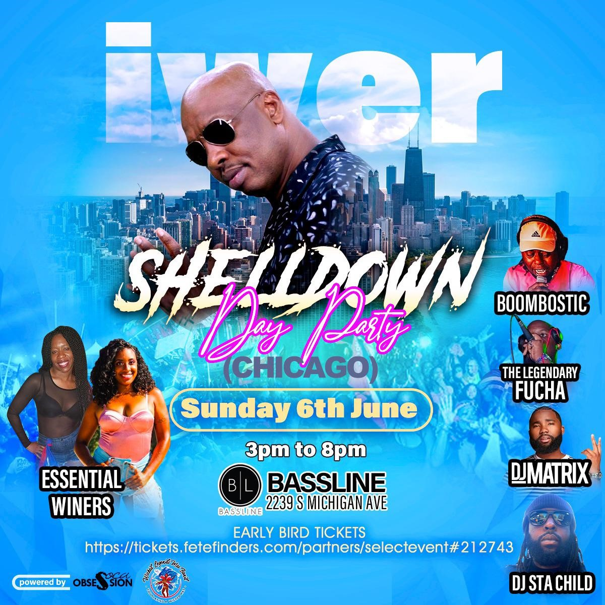 Soca Obsession & Wicked Legends Presents  The Shell Down With Road March King Iwer George  on jun. 06, 15:00@Bassline - Compra entradas y obtén información enwww.fetefinders.com tickets.fetefinders.com