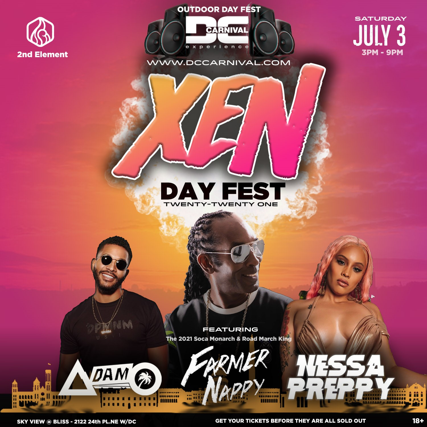 XEN :: Dayfest Feat. Farmer Nappy, Nessa Preppy, Adam O & more! on Jul 03, 15:00@Outdoors @ BLISS - Buy tickets and Get information on www.fetefinders.com tickets.fetefinders.com
