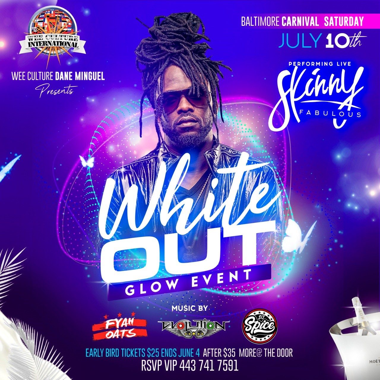 WHITE OUT GLOW EVENT  on Jul 10, 20:00@ELKRIDGE/JESSUP - Buy tickets and Get information on www.fetefinders.com tickets.fetefinders.com