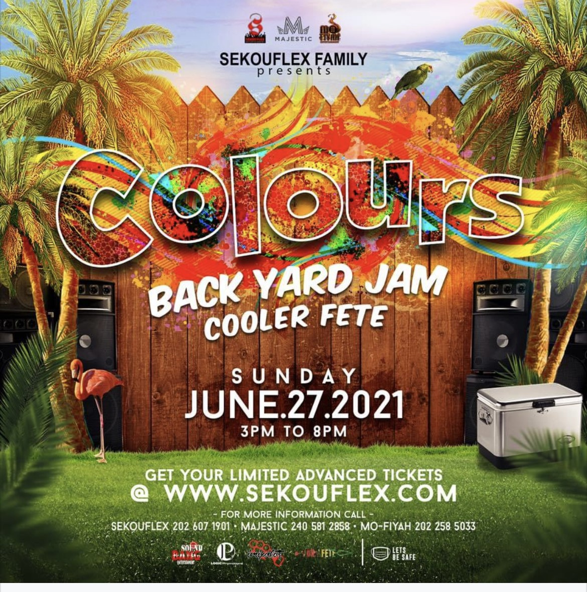 Colours Back Yard Jam Coolor Fete on Jun 27, 15:00@TBA - Buy tickets and Get information on www.fetefinders.com tickets.fetefinders.com