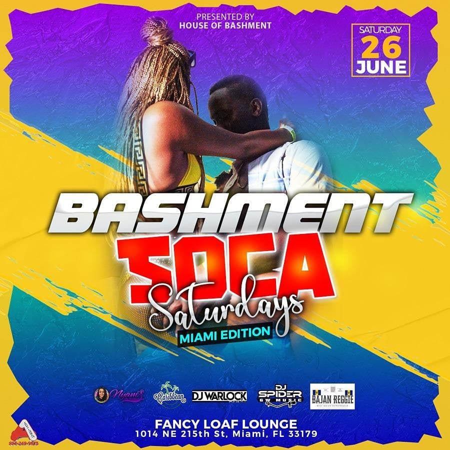 Bashment Soca  on Jun 26, 23:00@Fancy Loaf - Buy tickets and Get information on www.fetefinders.com tickets.fetefinders.com