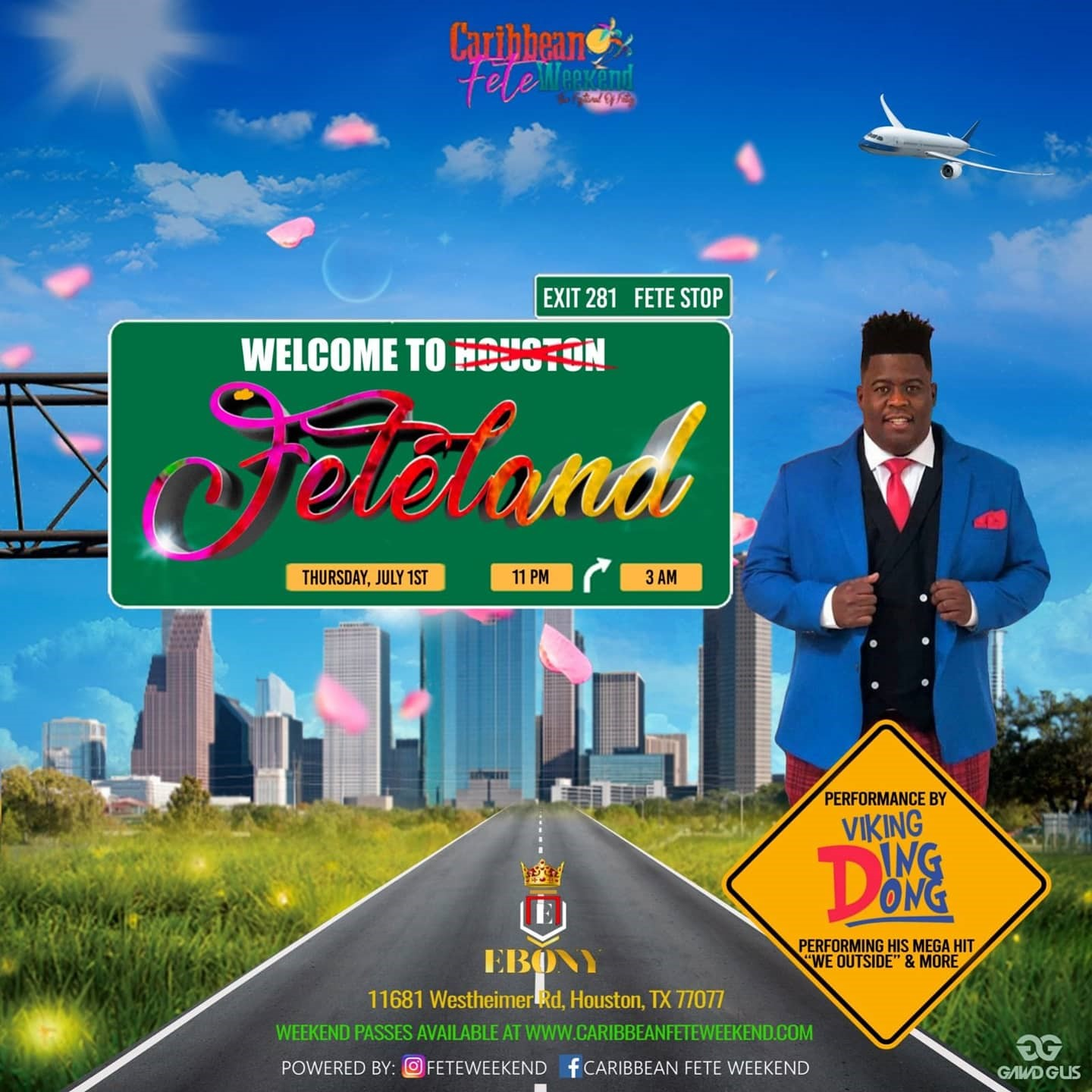 Feteland Welcome to Houston on Jul 01, 22:00@Ebony - Buy tickets and Get information on www.fetefinders.com tickets.fetefinders.com