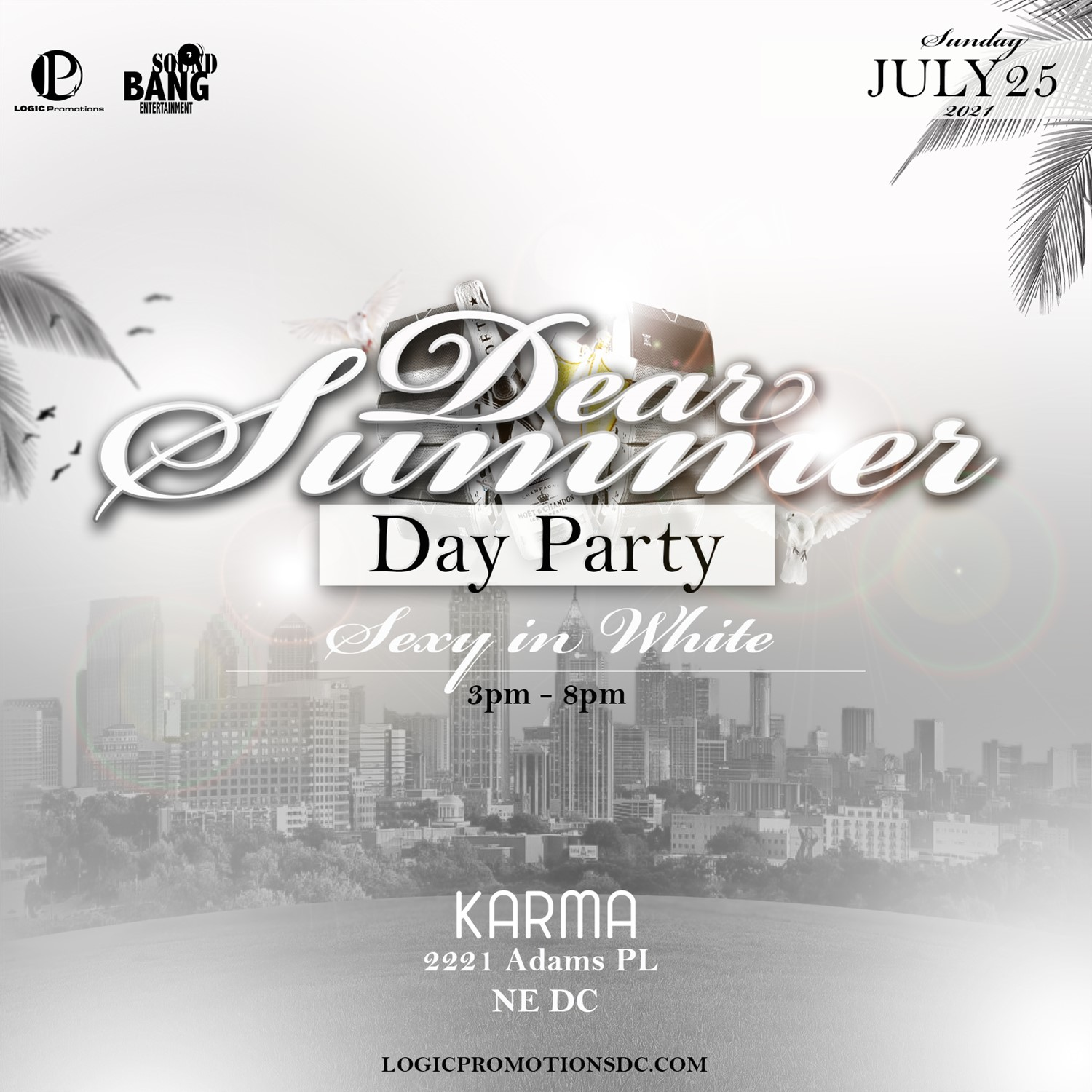 Dear Summer Day Party Sexy in White on Jul 25, 15:00@Karma - Buy tickets and Get information on www.fetefinders.com tickets.fetefinders.com
