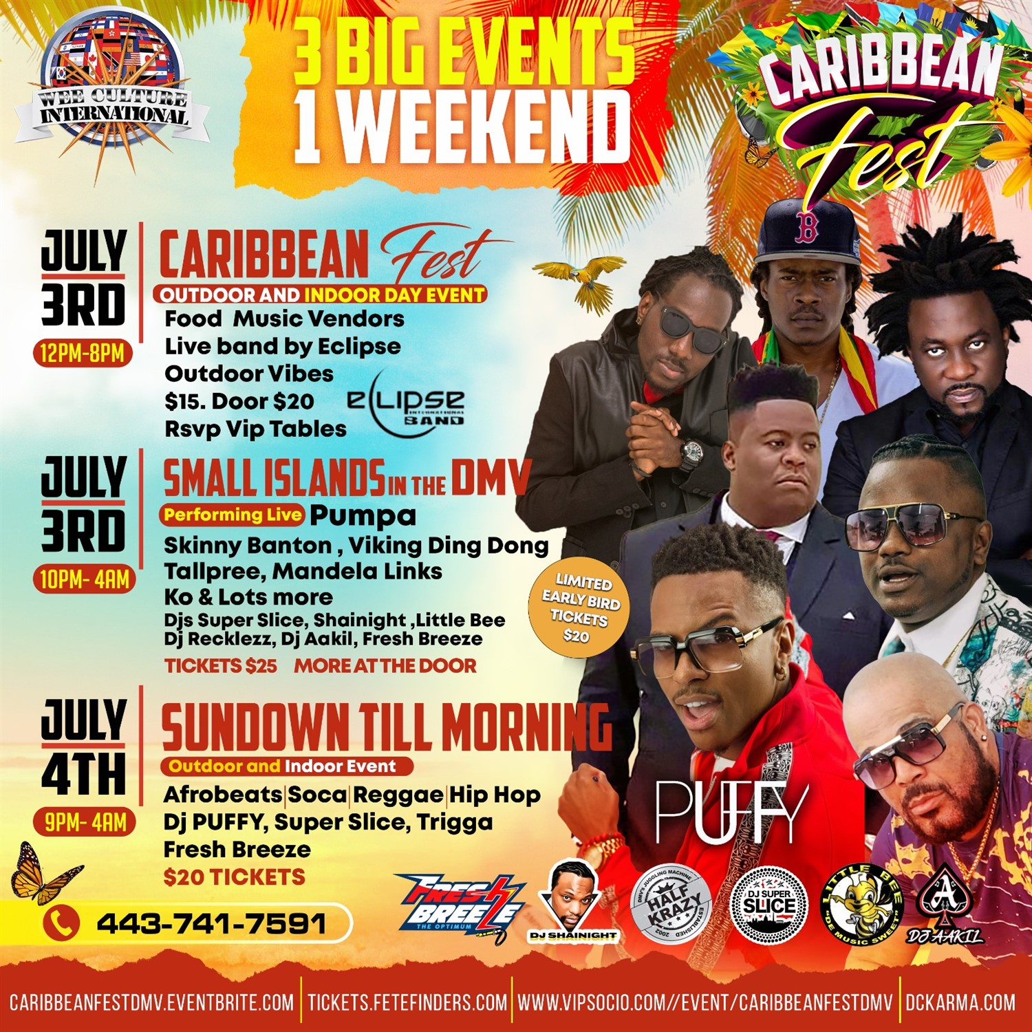Small Islands in the DMV Caribbean Fest July 3rd-4th. Bringing the best of the Caribbean to you! on Jul 03, 22:00@Karma - Buy tickets and Get information on www.fetefinders.com tickets.fetefinders.com