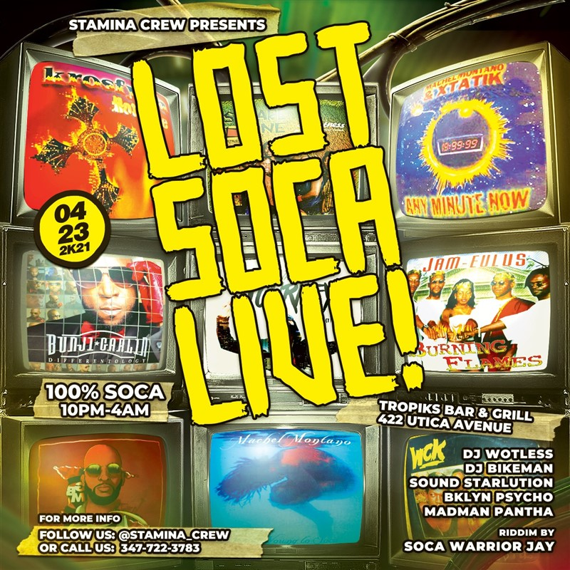 Get Information and buy tickets to LOST SOCA LIVE!  on www.fetefinders.com