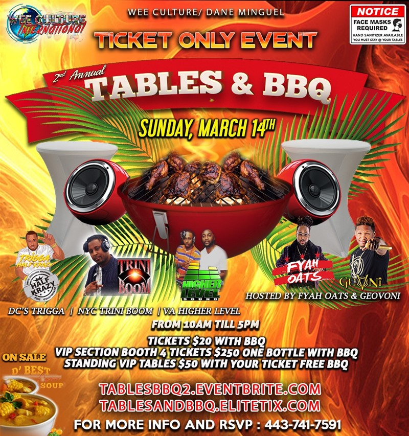 Tables and BBQ