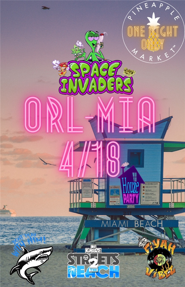 Get Information and buy tickets to Pineapplemarket presents Space Invaders  on www.fetefinders.com