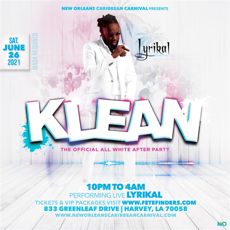 Get Information and buy tickets to KLEAN The Official All White After-Party on www.fetefinders.com