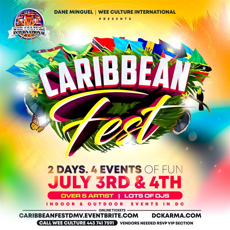 Get Information and buy tickets to Caribbean Fest Caribbean Fest July 3rd-4th. Bringing the best of the Caribbean to you! on www.fetefinders.com