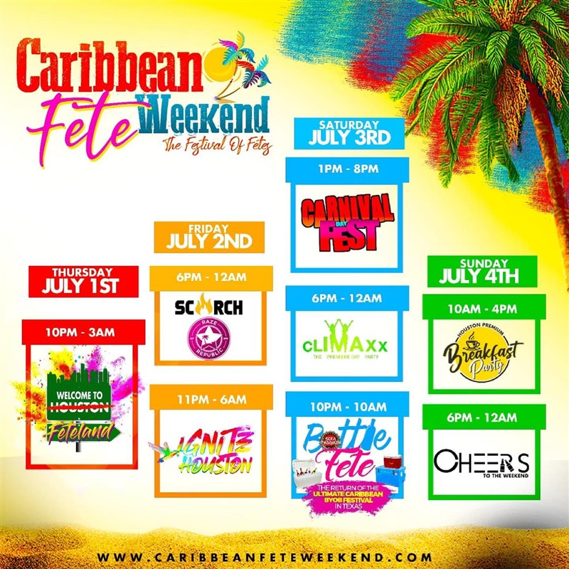 Get Information and buy tickets to CARIBBEAN FETE WEEKEND  on www.fetefinders.com