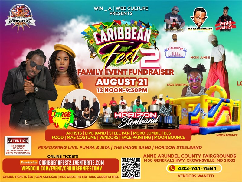 Get Information and buy tickets to Caribbean Fest Featuring Pumpa and Sita on www.fetefinders.com