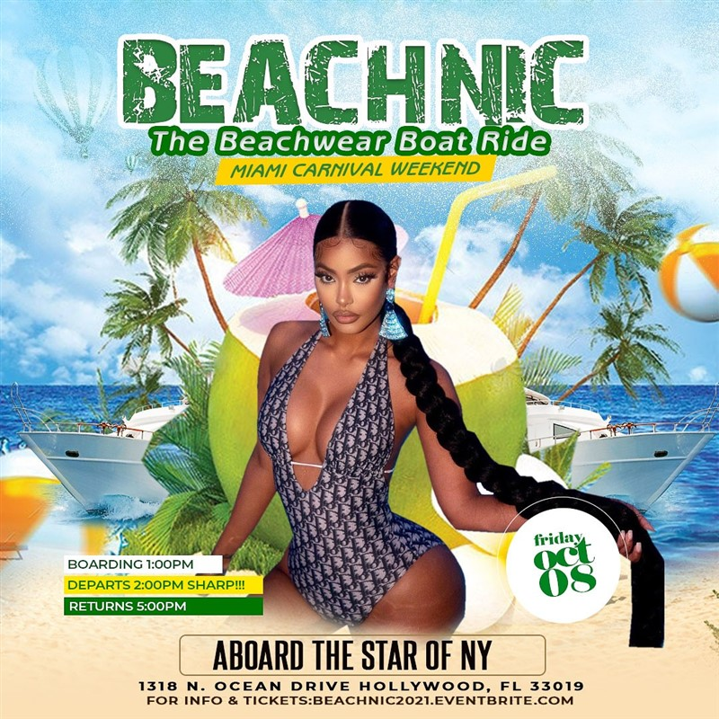 Get Information and buy tickets to BEACHNIC THE BEACHWEAR BOAT RIDE MIAMI CARNIVAL 2021  on www.fetefinders.com