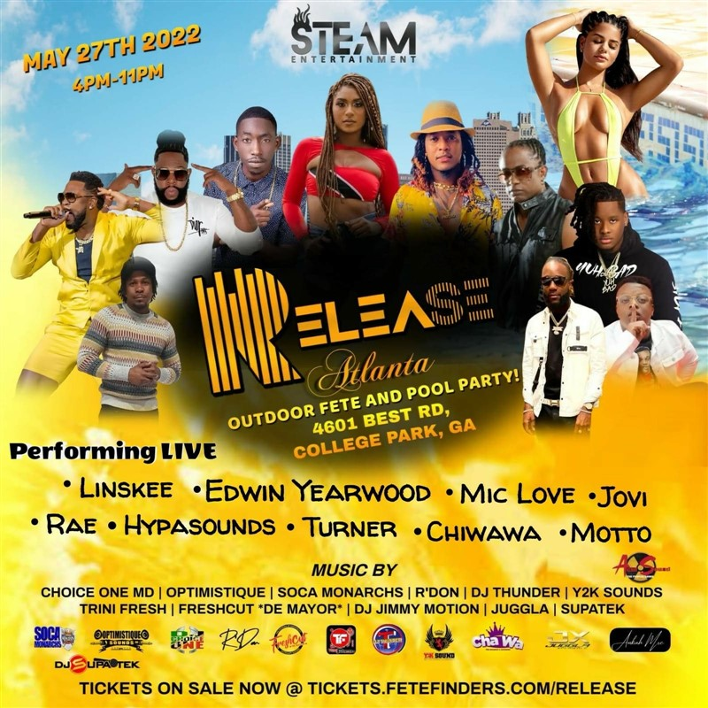 Get Information and buy tickets to RELEASE- Atlanta  on www.fetefinders.com