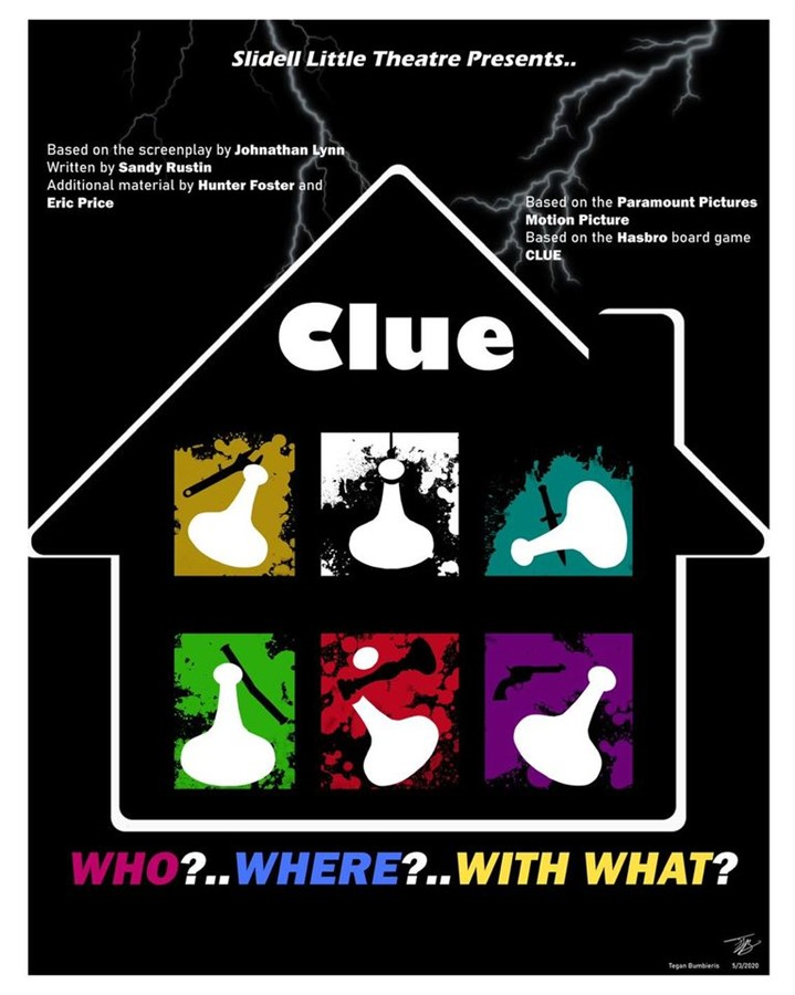 Get Information and buy tickets to Clue  on Slidell Little Theatre