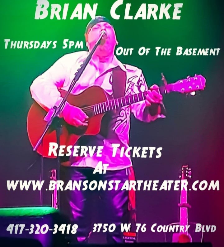 Brian Clarke's Out Of The Basement on Jul 30, 00:00@Branson Star Theater - Pick a seat, Buy tickets and Get information on The Branson Star Theater