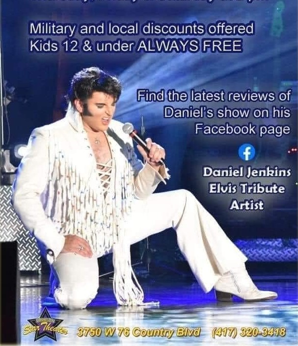 Elvis and I Featuring Daniel Jenkins on Jul 05, 00:00@Branson Star Theater - Pick a seat, Buy tickets and Get information on The Branson Star Theater