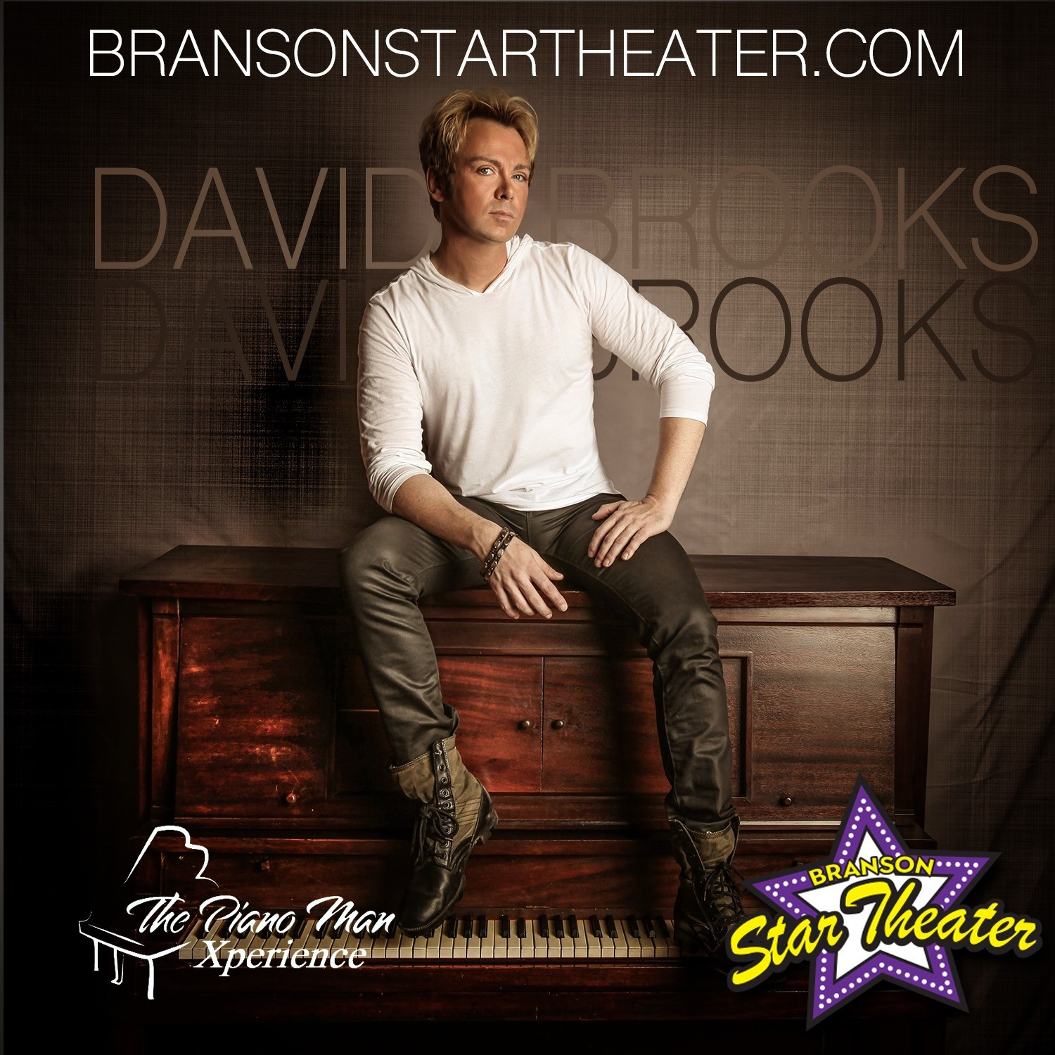 David Brooks Piano Man Experience  on Jul 27, 00:00@The Branson Star Theater - Pick a seat, Buy tickets and Get information on The Branson Star Theater