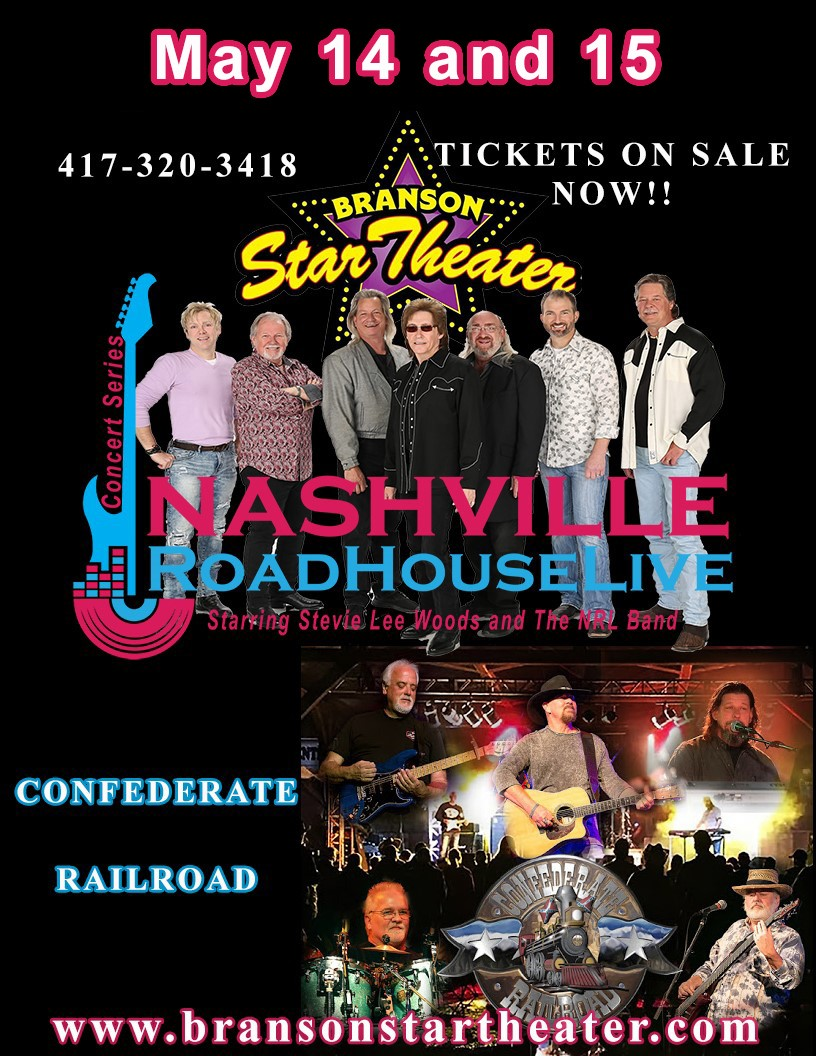 Confederate Railroad Nashville Roadhouse Live Concert Series  on May 14, 20:00@The Branson Star Theater - Pick a seat, Buy tickets and Get information on The Branson Star Theater bransonstartheater