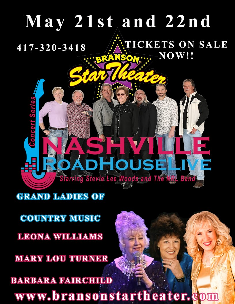 Grand Ladies Nashville Roadhouse Live Concert Series  on May 24, 00:00@The Branson Star Theater - Pick a seat, Buy tickets and Get information on The Branson Star Theater bransonstartheater