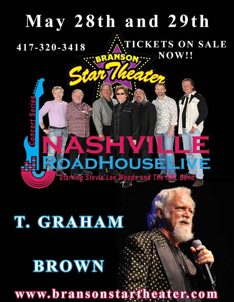 T Graham Brown Nashville Roadhouse Live Concert Series  on May 31, 00:00@The Branson Star Theater - Pick a seat, Buy tickets and Get information on The Branson Star Theater bransonstartheater