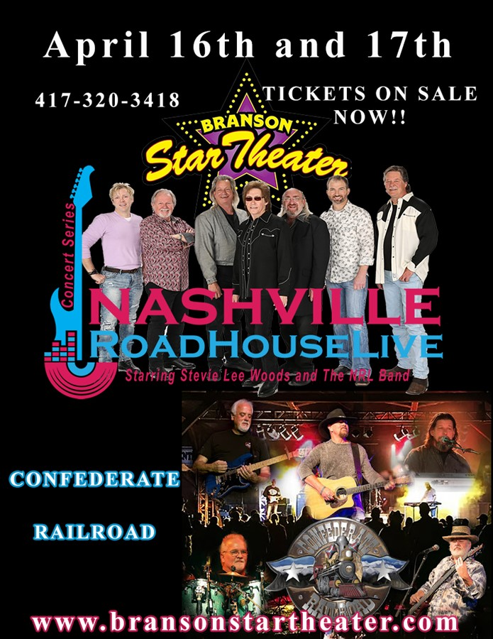 Get Information and buy tickets to Nashville Roadhouse Live Concert Series Confederate Railroad on The Branson Star Theater