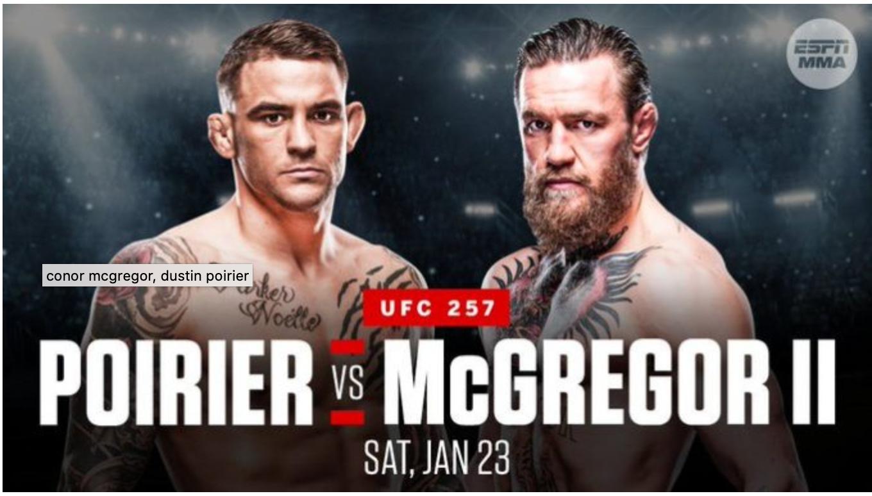 UFC 257: Conor McGregor vs. Dustin Poirier 2 - Buy tickets