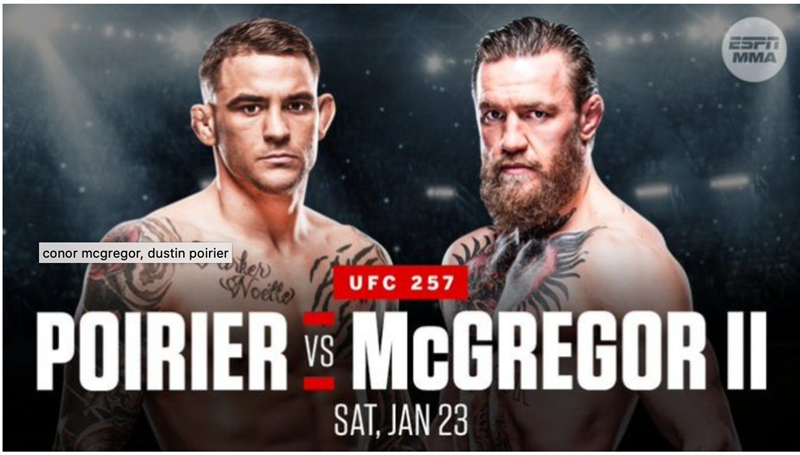 UFC 257: Conor McGregor vs. Dustin Poirier 2