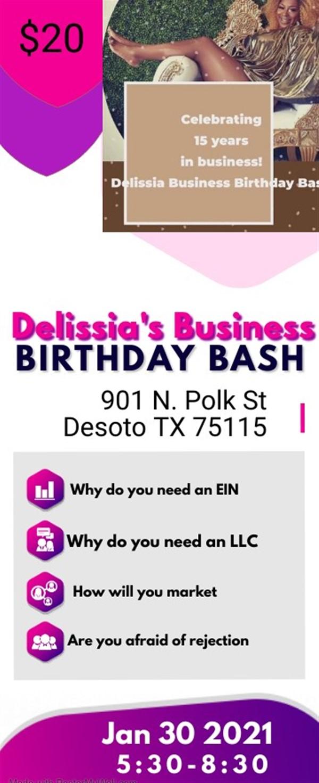 Delissia's Business Birthday Bash