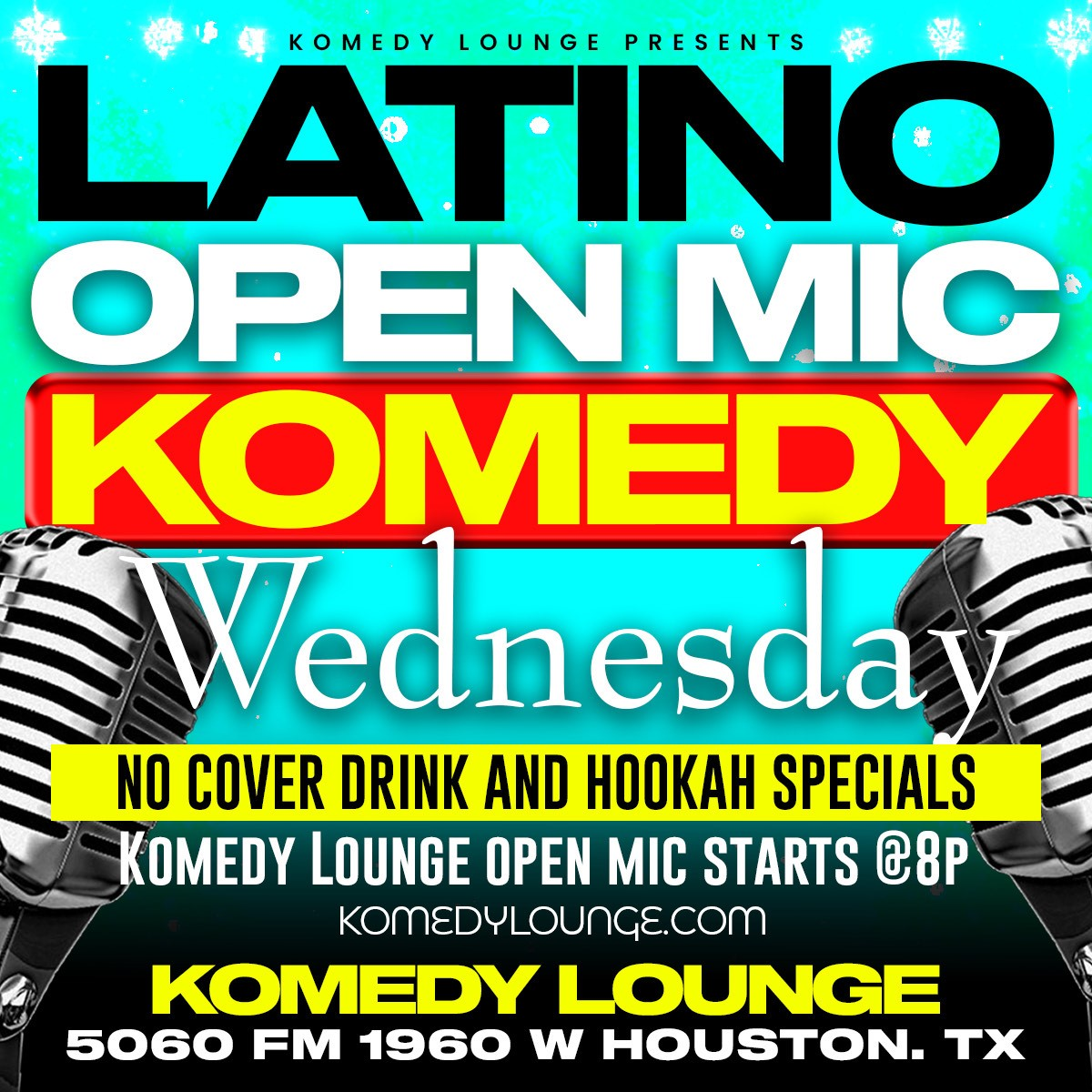 Open Mic Komedy Wednesday  on Dec 30, 00:00@The Komedy Lounge - Buy tickets and Get information on komedylounge.com
