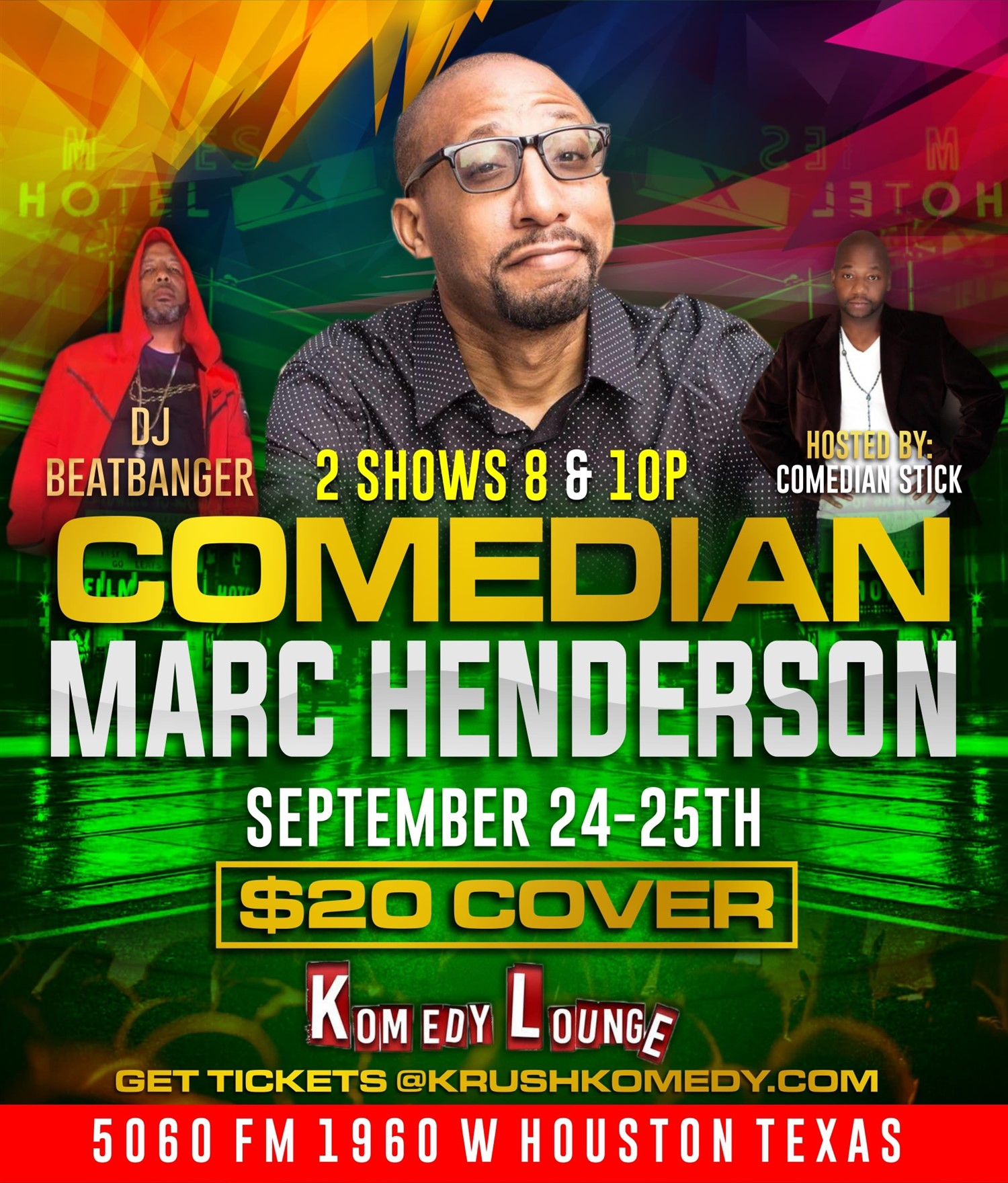 Comedian Marc Henderson 8pm  on Sep 24, 20:00@Komedy Lounge - Buy tickets and Get information on komedylounge.com