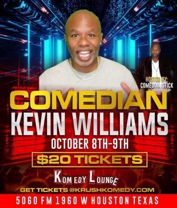 Comedian Kevin Williams 10pm  on Oct 09, 22:00@Komedy Lounge - Buy tickets and Get information on komedylounge.com