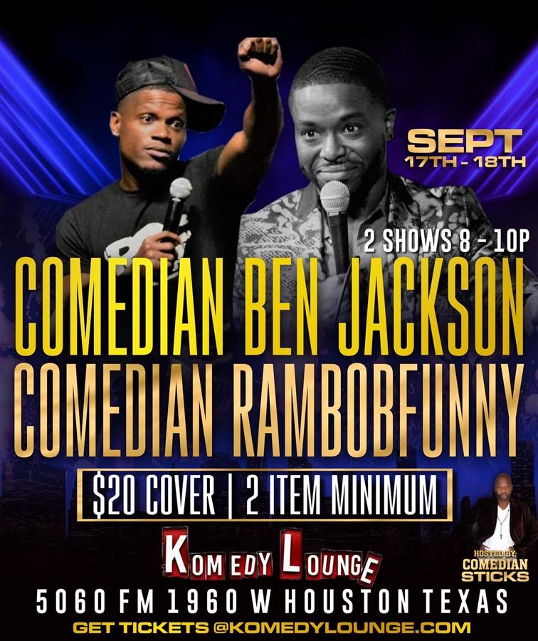 Comedian Ben Jackson & Rambo Funny 10pm