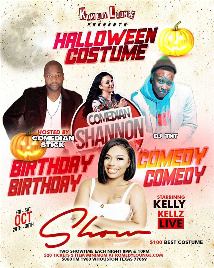 Get Information and buy tickets to Kelly Kellz Birthday Bash 8pm Halloween, Birthday Celebration & Comedy on komedylounge.com