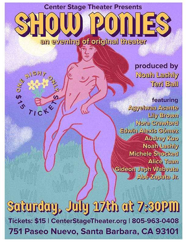 Get Information and buy tickets to Show Ponies a collection of monologues and short plays on Center Stage Theater