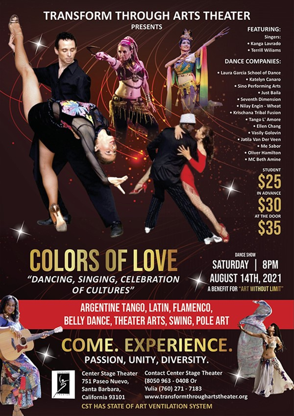 Get Information and buy tickets to Colors of Love  on Center Stage Theater