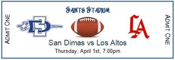 San Dimas High School Varsity Football vs Los Altos