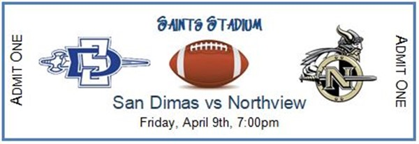 San Dimas High School Varsity Football vs Northview