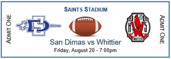 SDHS Varsity Football v Whittier