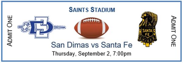 SDHS Football v Santa Fe