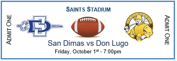 SDHS Varsity Football vs Don Lugo
