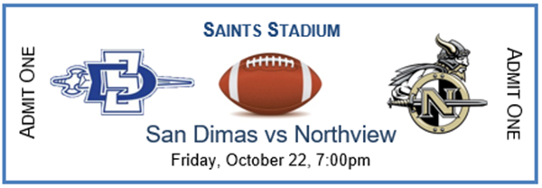 Get Information and buy tickets to SDHS Varsity Football vs Northview  on San Dimas High School