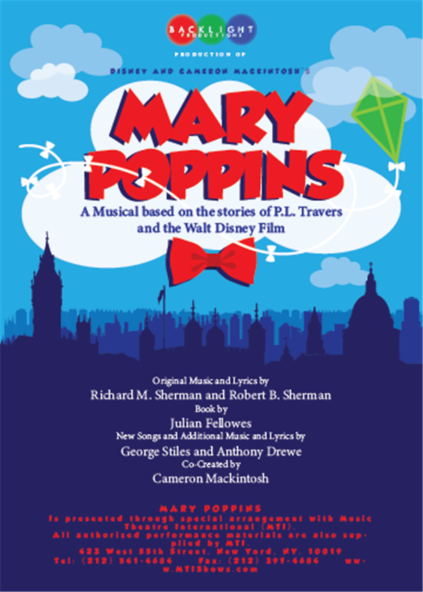 Get Information and buy tickets to Backlight Productions presents Mary Poppins 1pm on wcpactn.com