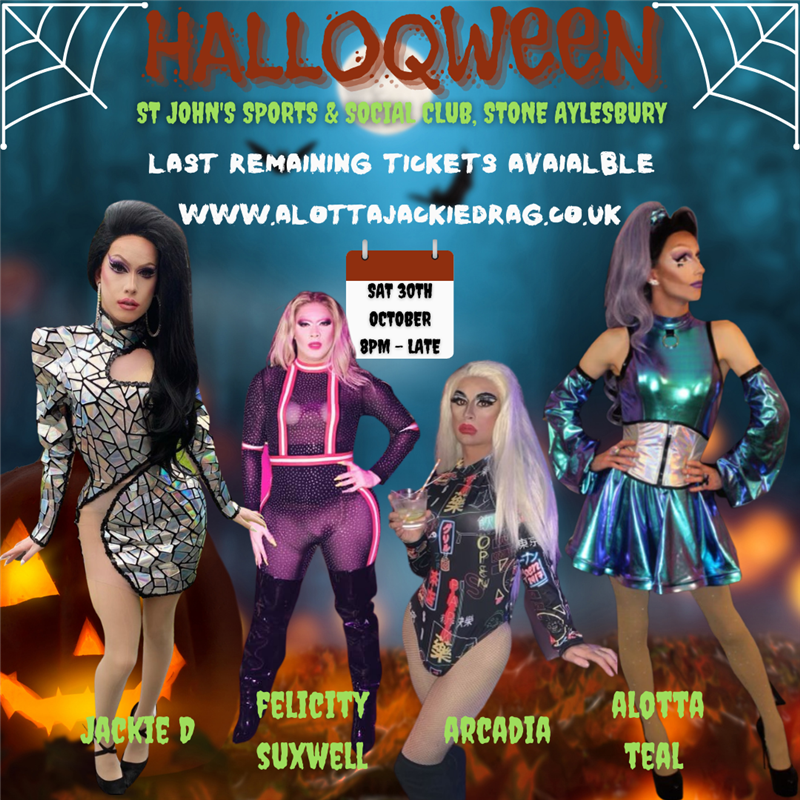 Get Information and buy tickets to HALLOQWEEN Full Drag Variety Show on www.danceparty247.club