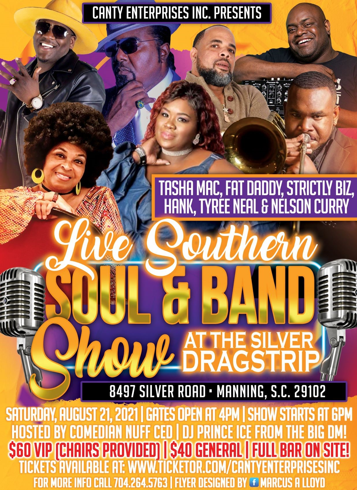 Live Southern Soul & Band Show  on Aug 21, 18:00@Silver Dragstrip - Buy tickets and Get information on Canty Enterprises Inc