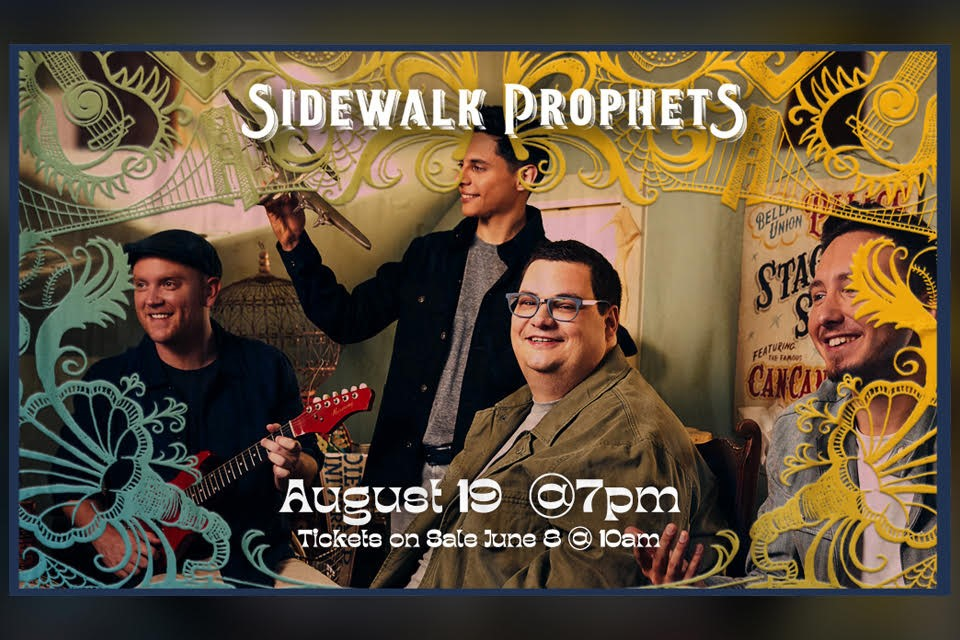 Sidewalk Prophets LIVE in Concert! Thursday,  August 19, 2021 on Aug 19, 19:00@Pickens County Performing Arts Center - Buy tickets and Get information on Take Part Tickets takepartickets.com